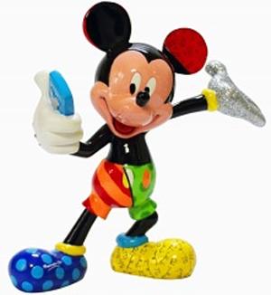 ミッキーマウス フィギュア ミッキー 自撮り BRITTO<ディズニーコレクション ブリット>