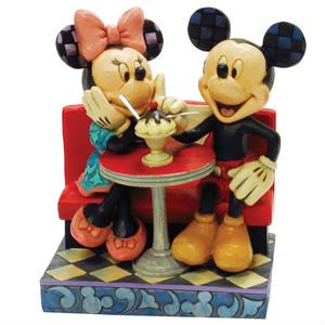 ミニーマウス フィギュア ミッキーとミニー レストラン・デート ハンドペイント<ディズニートラッディション>