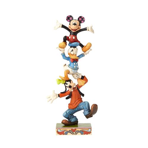 ミニーマウス フィギュア ミッキーと仲間達 トーテムポール ハンドペイント<ディズニートラッディション>