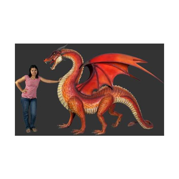 全長280cm!ドラゴン(翼竜)巨大フィギュア(恐竜ビッグフィギュア)
