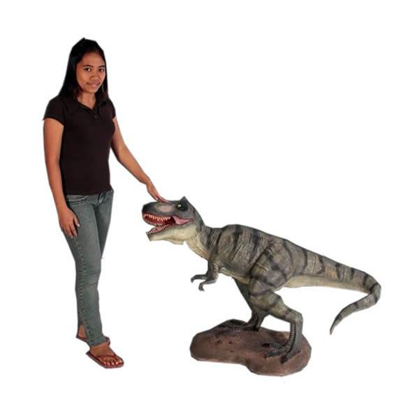 小型版10分の1!ティラノサウルス T-REX 小型フィギュア(恐竜フィギュア)
