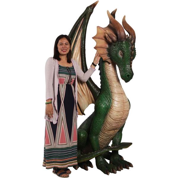 高さ213cm!座るドラゴン(翼竜)巨大フィギュア(恐竜ビッグフィギュア)