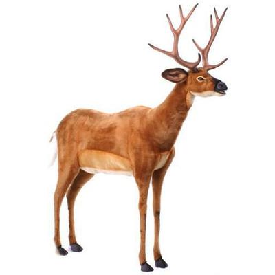 アニマルビッグフィギュアHANSAぬいぐるみ【尾白ジカ(鹿)高さ:140cm】(等身大フィギュア)