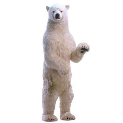 アニマルビッグフィギュアHANSAぬいぐるみ【立つ シロクマ (高さ:260cm)】(等身大フィギュア)