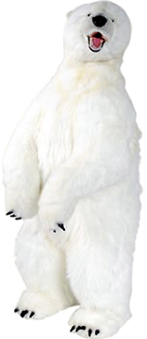 アニマルビッグフィギュアHANSAぬいぐるみ【立つ シロクマ (高さ:146cm)】B(等身大フィギュア)