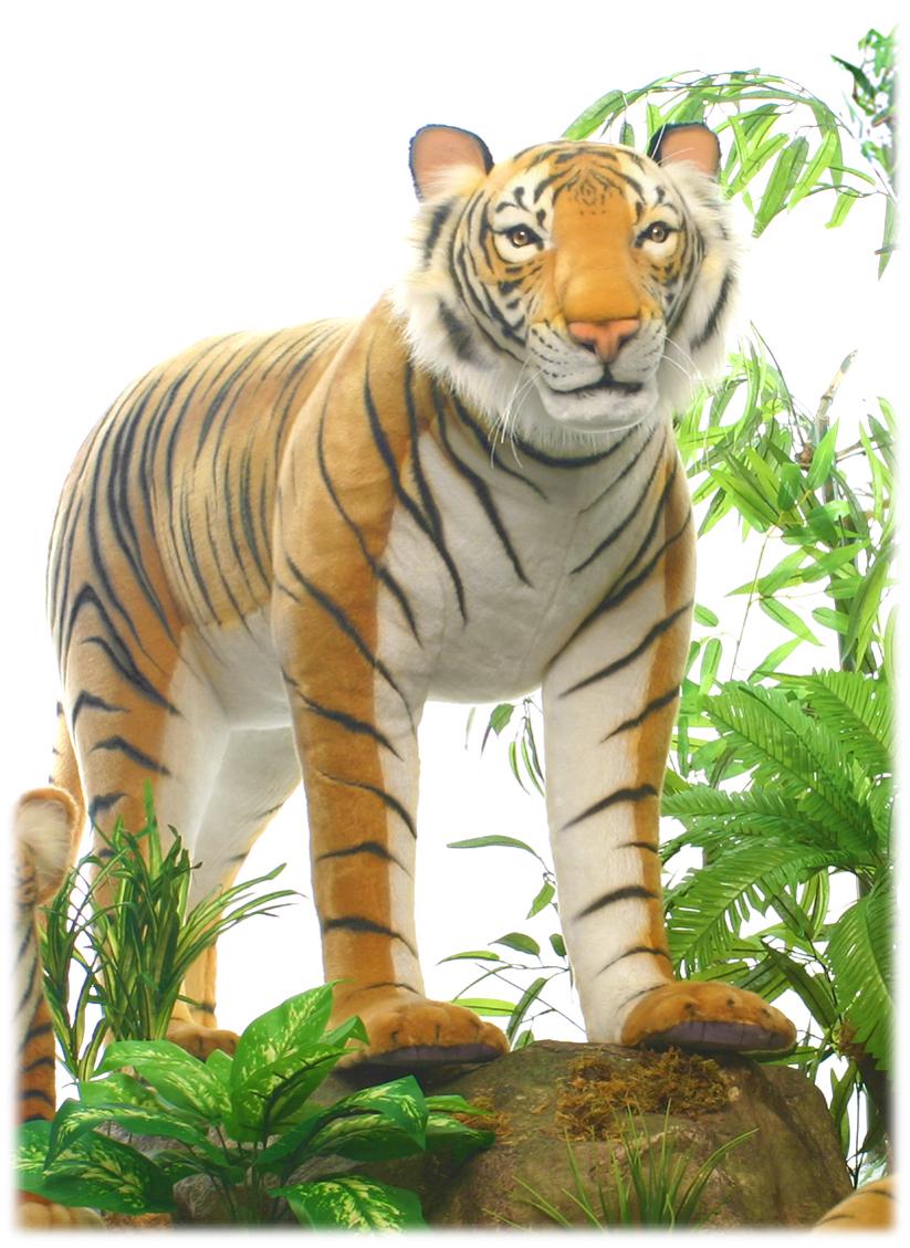アニマルビッグフィギュアHANSAぬいぐるみ【タイガー(トラ)・スタンディング(全長:136cm)】(等身大フィギュア)