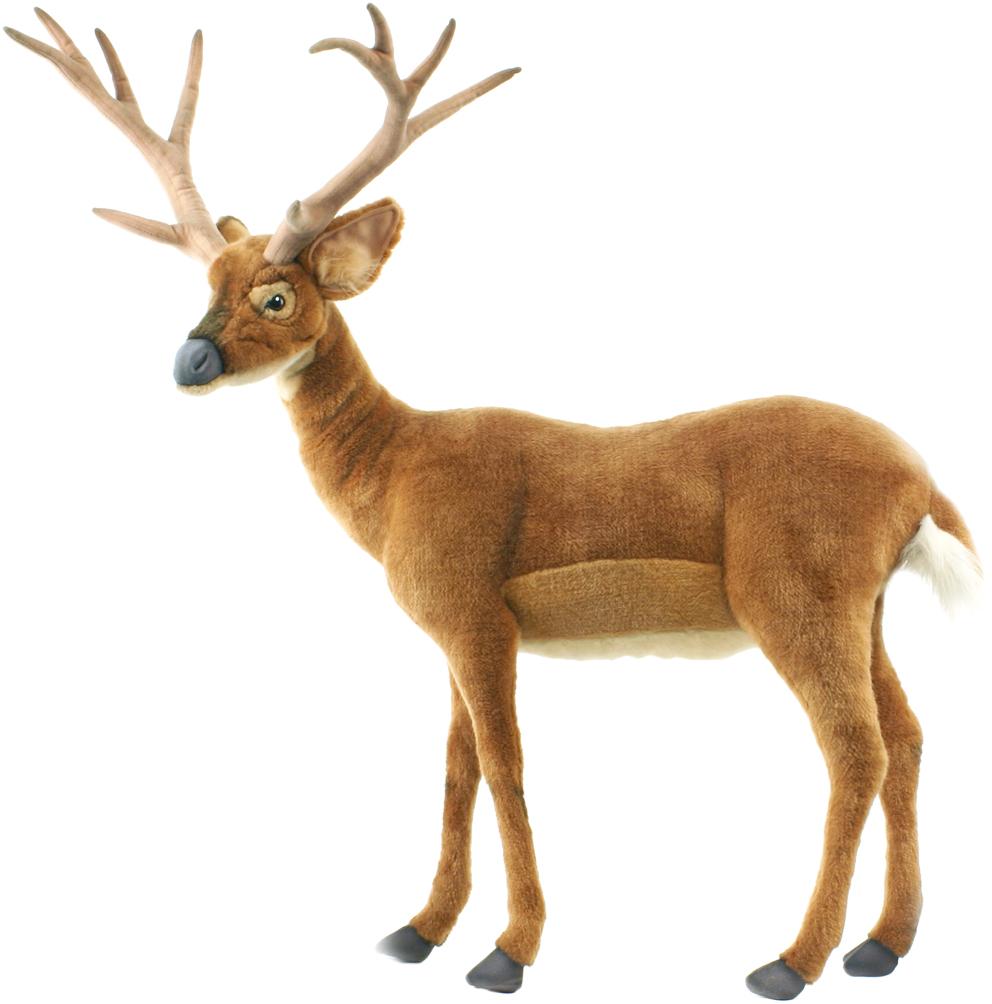 アニマルビッグフィギュアHANSAぬいぐるみ【尾白ジカ(鹿)小型 高さ:96cm】(等身大フィギュア)