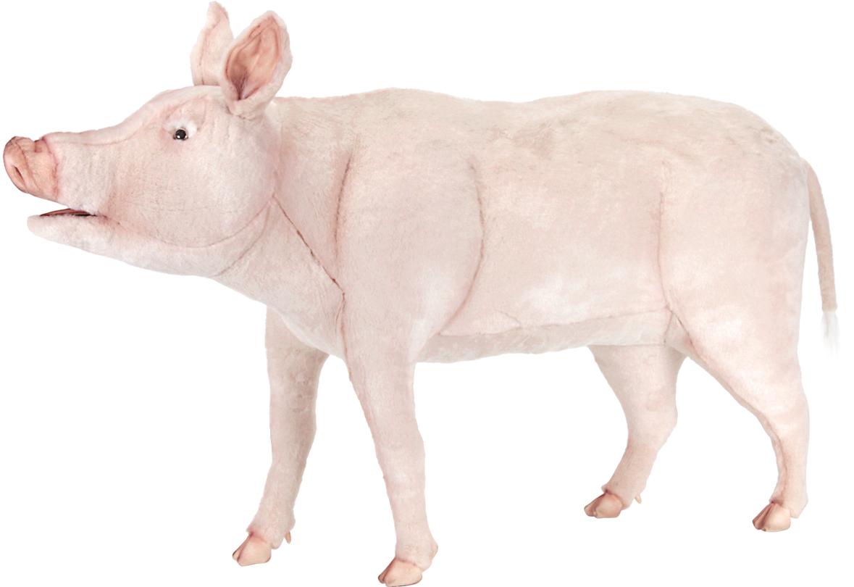アニマルビッグフィギュアHANSAぬいぐるみ【豚(ブタ)全長:130cm 小型】(等身大フィギュア)