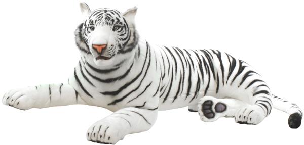 アニマルビッグフィギュアHANSAぬいぐるみ【ホワイトタイガー(トラ) ビッグ(全長:145cm)】(等身大フィギュア)