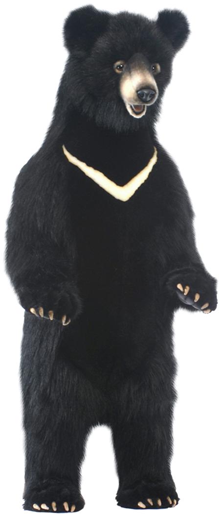 アニマルビッグフィギュアHANSAぬいぐるみ【立つ ツキノワグマ(全高:105cm)小クロクマ】(等身大フィギュア)