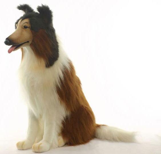 アニマルビッグフィギュアHANSAぬいぐるみ【コリー(犬) 高さ:75cm 】(等身大フィギュア)
