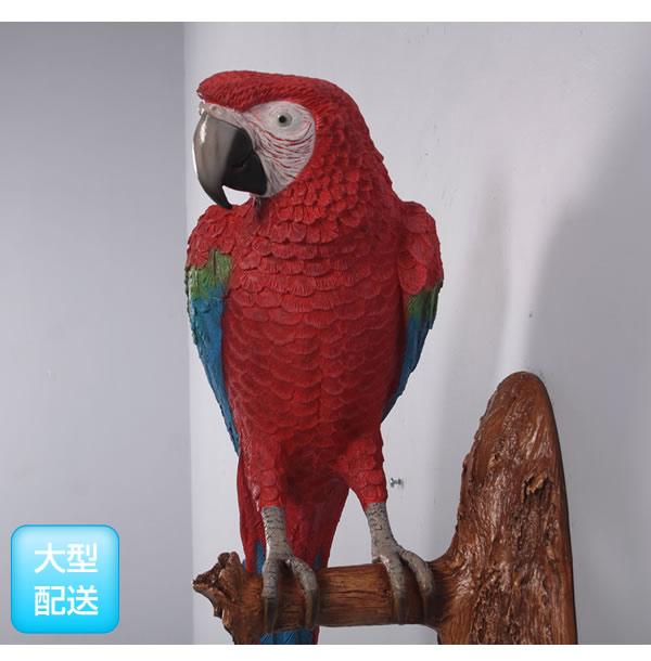 アニマルビッグフィギュアシリーズ【オウム(壁掛け用)レッド&ブルー】(等身大フィギュア)