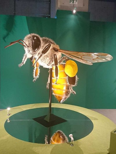 全長2m 巨大な昆虫「日本ミツバチ(はち)」ビックリ!  アニマルビッグフィギュアシリーズ 昆虫【ビックサイズ ミツバチ(蜂)】(等身大フィギュア)