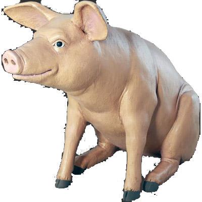 アニマルビッグフィギュアシリーズ【ゆかいな豚(ブタ)】(等身大フィギュア)