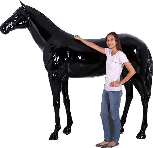 アニマル フィギュアシリーズ【立ち振る舞う馬】グレーブラック(等身大フィギュア)