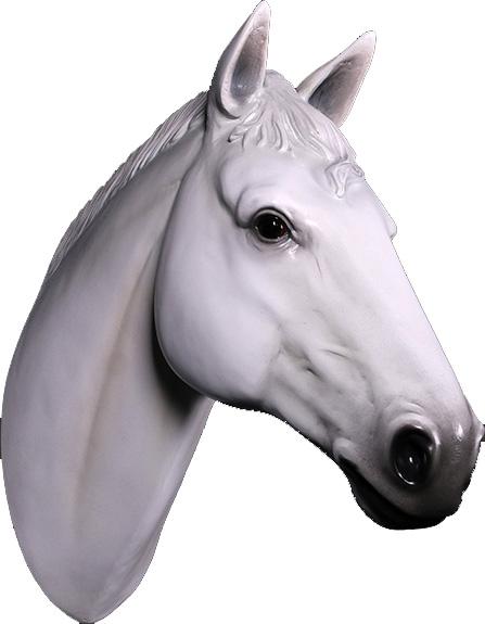 白馬 ヘッド・ビッグフィギュア(壁掛けタイプ)