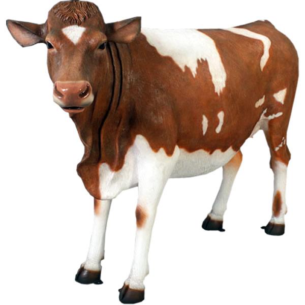 アニマルビッグフィギュアシリーズ【ウシ・スタンディング牛 ガンジー乳牛】(等身大フィギュア)