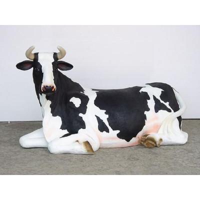 アニマルビッグフィギュアシリーズ【ウシ(乳牛)シッティング牛】(等身大フィギュア)
