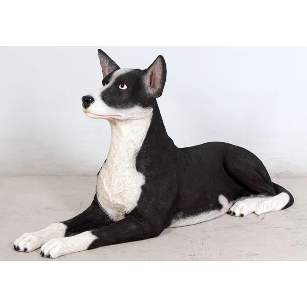 アニマルビッグフィギュアシリーズ【横たわる ケルビー犬】(等身大フィギュア)