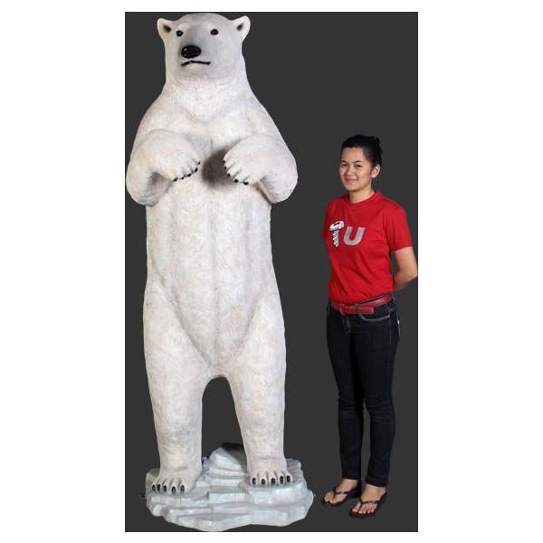 アニマルビッグフィギュアシリーズ【立つ・白クマ(熊)・(全高212cm)】(等身大フィギュア)