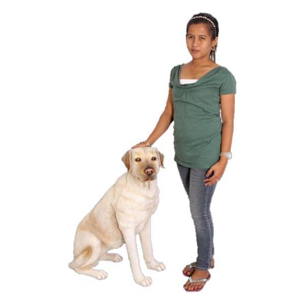 アニマルビッグフィギュアシリーズ【温和な ラブラドール犬白】(等身大フィギュア)