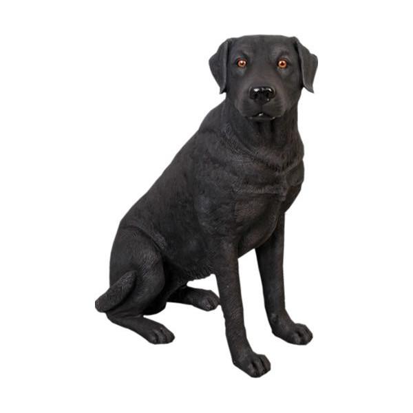 アニマルビッグフィギュアシリーズ【温和な ラブラドール犬黒】(等身大フィギュア)