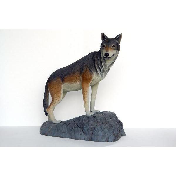アニマルビッグフィギュアシリーズ【岩とオオカミ】(等身大フィギュア)