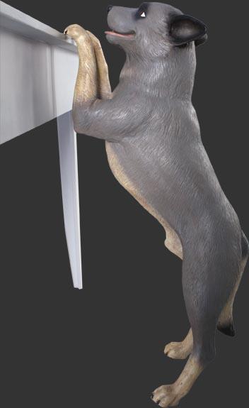 アニマルビッグフィギュアシリーズ【スタンディング ブルーヘラー犬】(等身大フィギュア)