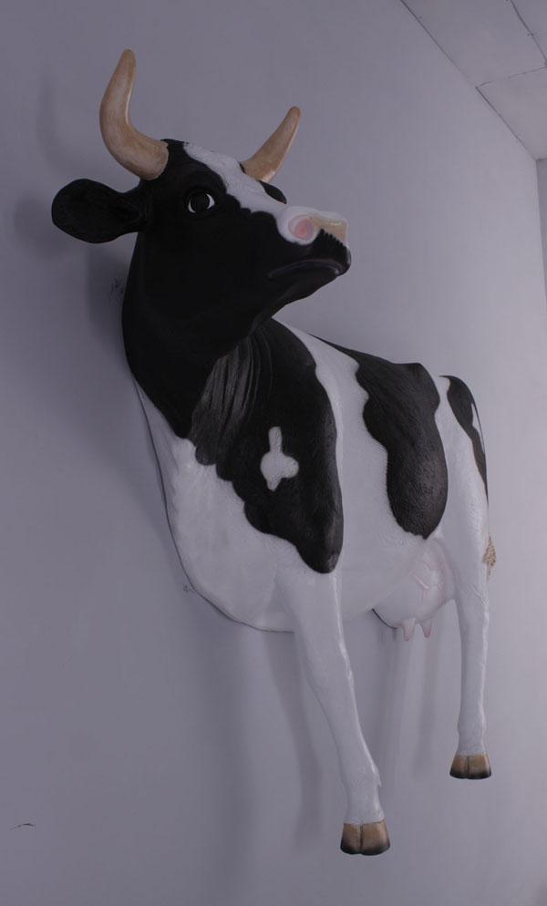 アニマルビッグフィギュアシリーズ【壁掛け ウシ(乳牛)・スタンディング】(等身大フィギュア)