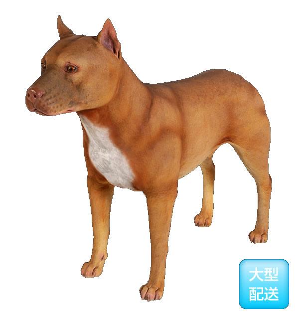 アニマルビッグフィギュアシリーズ 闘犬【ピットブル 犬】ライトブラウン(等身大フィギュア)