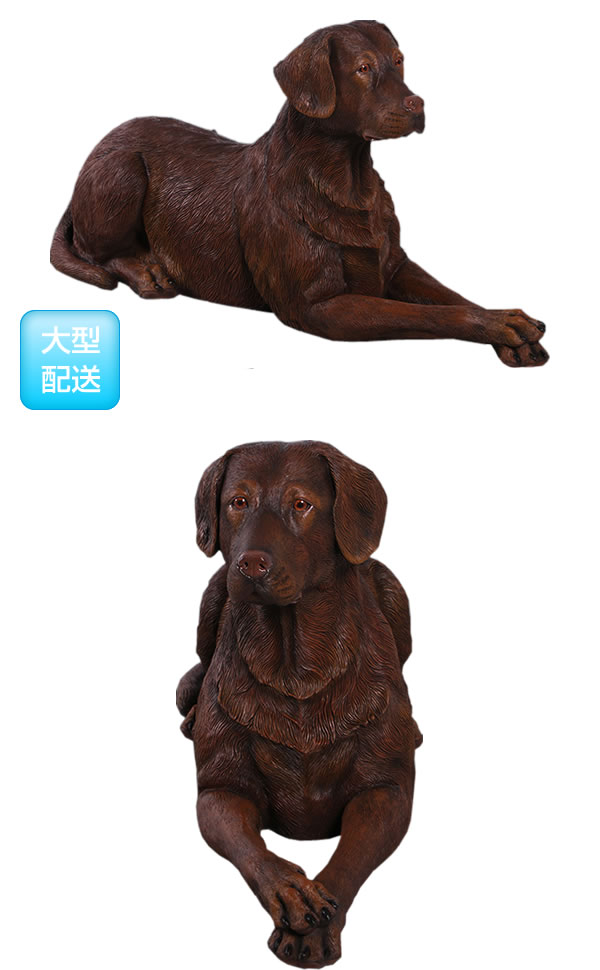 アニマルビッグフィギュアシリーズ【横たわる ラブラドール犬 チョコ・ブラウン】(等身大フィギュア)