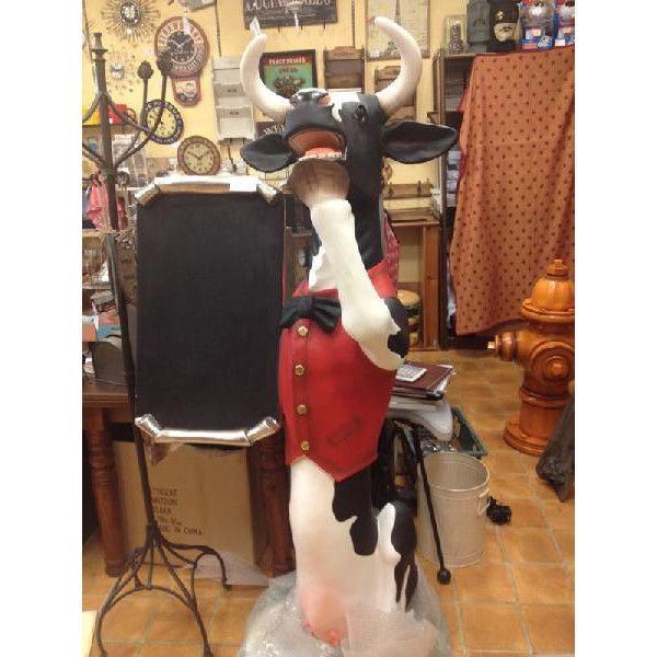 等身大フィギュア付 メニューボード・牛バトラー (乳牛)