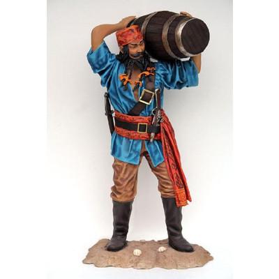 樽を運ぶパイレーツ(海賊)・等身大フィギュア