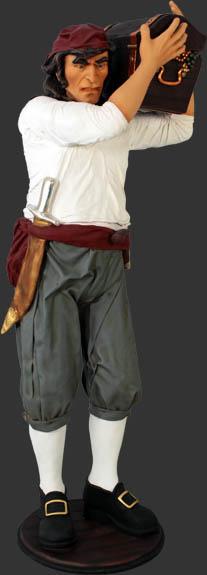 パイレーツ・宝箱を運ぶ海賊・等身大フィギュア