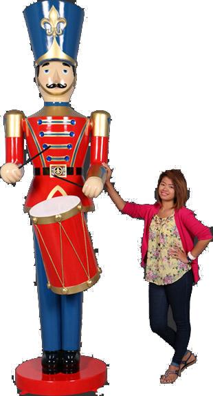 高さ276cm くるみ割り人形 おもちゃの兵隊ドラム(太鼓) ビッグ・フィギュア