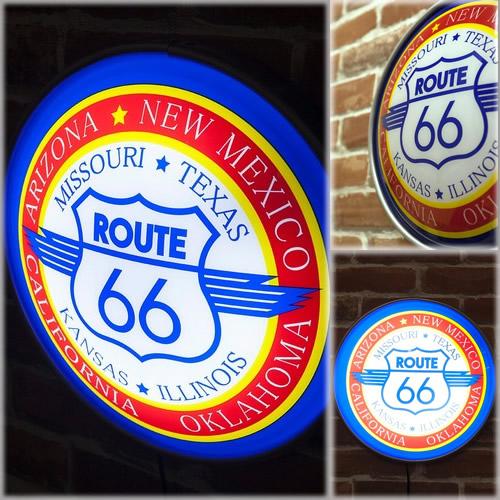 ラウンドウォールランプ「ルート66 NEW」