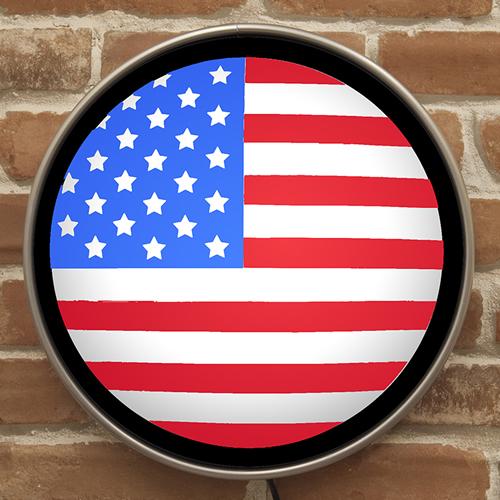 ラウンドウォールランプ「US(アメリカ)フラッグ」