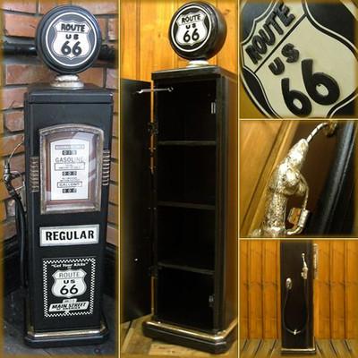 ガソリンポンプ型 小物入れラック 「ROUTE 66」