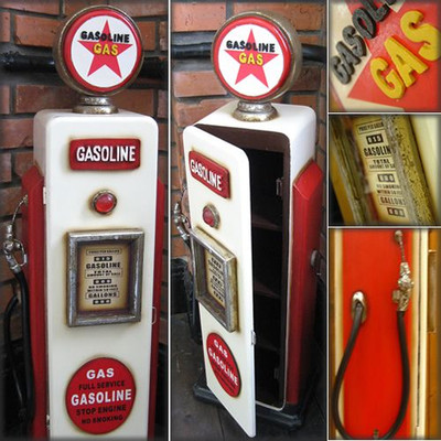 ガソリンポンプ型 小物入れラック 「GASOLINE」