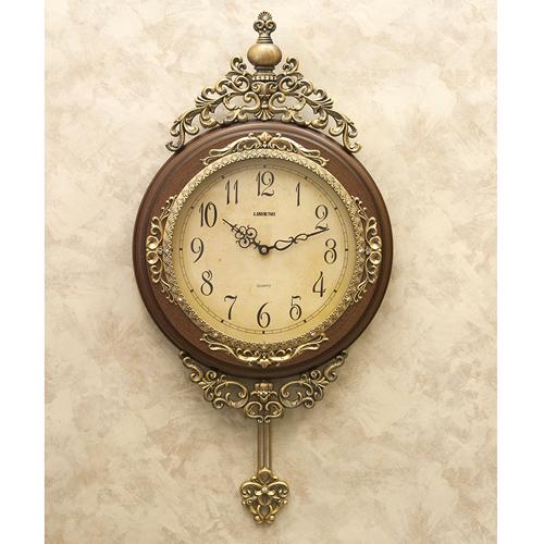 ビクトリアンパレスのウォールクロック(壁掛け時計)ブラウン「ペンドゥラム」