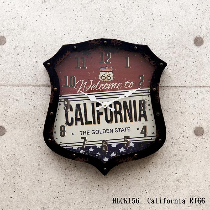 アンティーク ダイカットクロック(壁掛け時計) 「カリフォルニア」 クロック