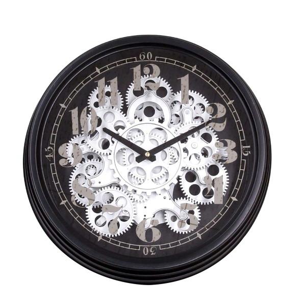 ギアー クロック(壁掛け時計) 「シルバーギアー」 クロック 時計