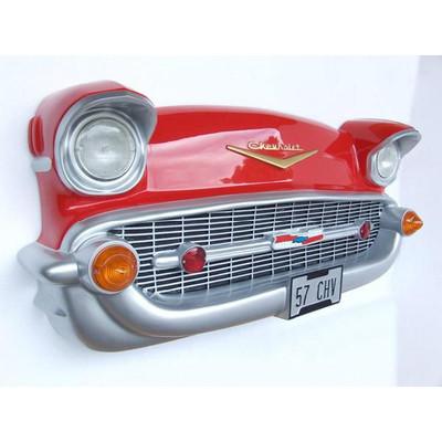 カーフロント・ビッグウォールデコ -Chevy-(赤) ライト点灯