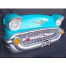 カーフロント・ビッグウォールデコ -Chevy-(ターコイズブルー) ライト点灯