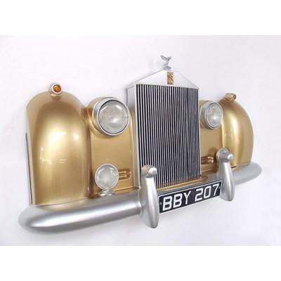 カーフロント・ビッグウォールデコ -Rolls Royce-(ゴールド) ライト点灯