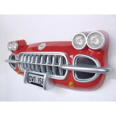 カーフロント・ビッグウォールデコ -Corvette-(赤) ライト点灯