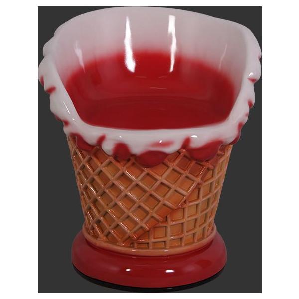 アイスクリームコーン・チェアー(イス)ストロベリー