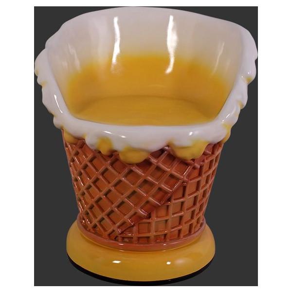 アイスクリームコーン・チェアー(イス)レモン