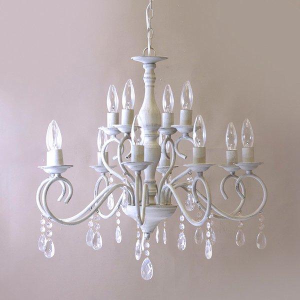 インテリア シャンデリア クラシカルシャンデリア ビアンカ 12灯 サンドグレイ 当店一番人気 定番 LED電球対応