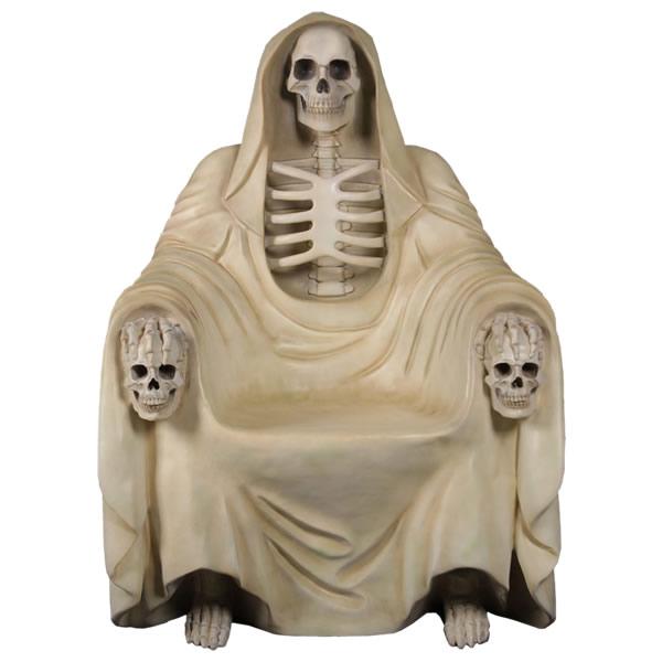 死神の椅子(イス)ベンチ ホワイト 等身大フィギュア